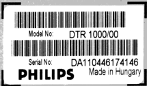 Digital Terrestial Receiver DTR1000 /00; Philips; Budapest (ID = 1791433) DIG/SAT