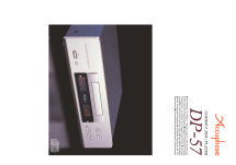 MDS Compact Disc Player DP-57; Accuphase Laboratory (ID = 2083223) R-Player