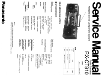 Portable Stereo Component System RX-CT810; Panasonic, (ID = 1873812) Radio