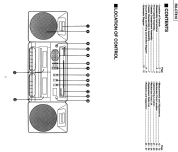 Portable Stereo Component System RX-CT810; Panasonic, (ID = 1873813) Radio