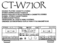 Stereo Double Cassette Deck CT-W710R; Pioneer Corporation; (ID = 2028519) Ton-Bild
