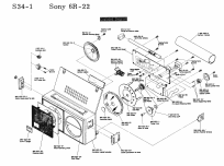 6R-22; Sony Corporation; (ID = 1697333) Radio