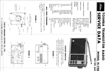 IC-700; Toshiba Corporation; (ID = 1565894) Radio