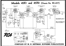 Rca 45x1 Mdl Radio Schematic - Free Wiring Diagram For You •