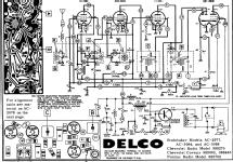delco 988275 chevrolet car radio united motors service delco rh radiomuseum org Delphi Delco Radio Wiring Diagram delco auto radio schematics