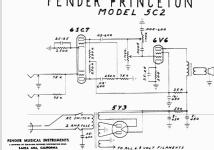 Princeton CH = 5C2 1948 Ampl/Mixer Fender Electric Instrumen