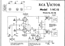 1-VC-15 Ch= RS-198; RCA RCA Victor Co. (ID = 163590) R-Player