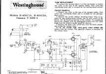 H-45AC2A V-2506-3 Chassis; Westinghouse El. & (ID = 60758) R-Player
