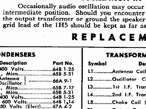 7T06 CH= 4B1 Radio Admiral brand Continental Radio & Televis