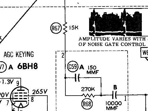 C25B8 Ch= 20Y4FF Television Admiral brand Continental Radio