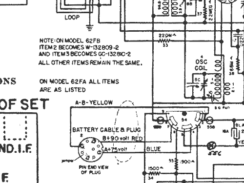 62FB Ch= 58 Radio Crosley Radio Corp.; Cincinnati OH, build