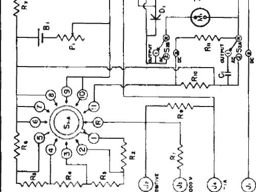 analog voltmeter diagram
