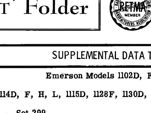 1114F Ch= 120259-F Television Emerson Radio & Phonograph Cor