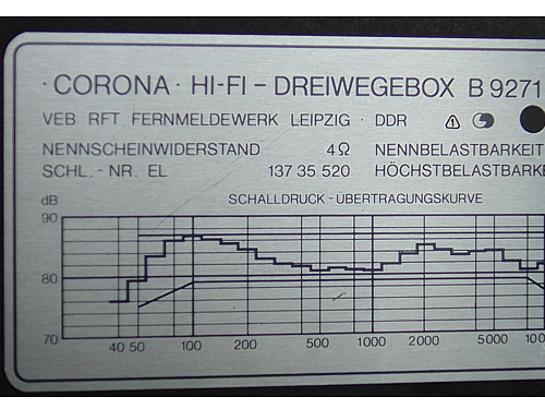 Corona B9271; Fernmeldewerk (ID = 200989) Speaker-P