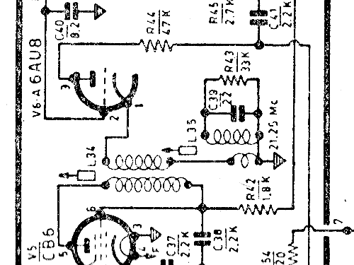 gtv961 television geloso sa  milano  build 1958  2 schematic