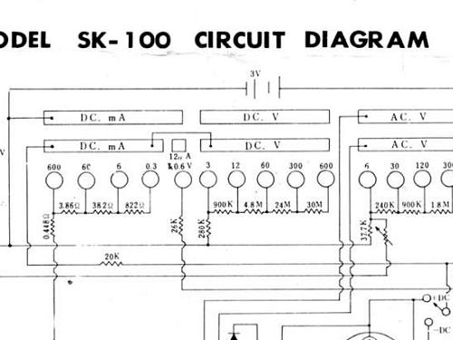 Analog Multimeter Sk 100 Equipment Icel Manaus Instrumentos
