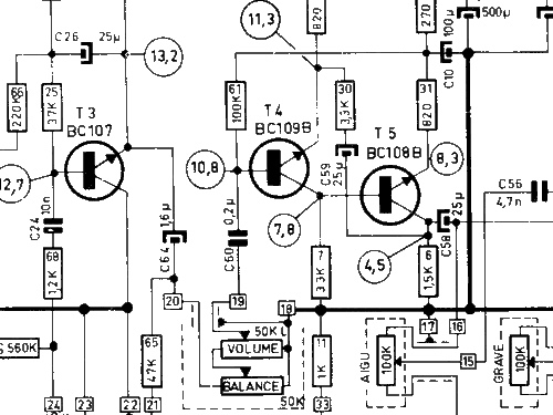 hifi stereo versterker 70 11 64 ampl  mixer novak also pontia