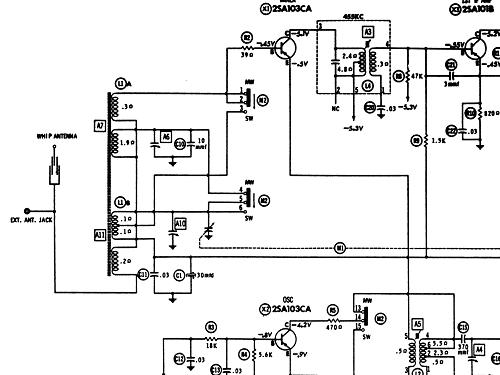 National 2-Band 8-Transistor T-808 Radio Panasonic, Matsushi
