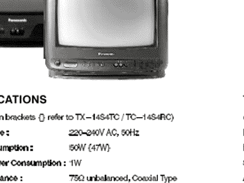 Panasonic Colour TV TX-21S4TC Ch= Z-7; Panasonic, (ID = 2007618) Televisore