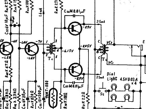 4 Band 9 Transistor T 100 Radio Panasonic Matsushita Natio
