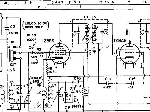 863s radio philips canada build 1950 1 schematics 5 tu 3 Vintage Tube Radio Schematic 863s philips canada id 819490 radio