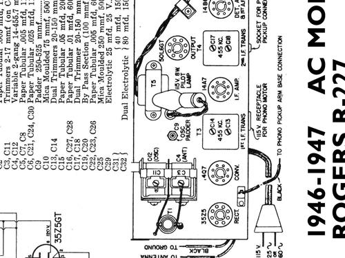 R227 Radio Rogers Majestic Standard Radio Manufacturing B