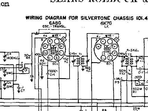 silvertone 4664 ch 101 480 order 57f radio sears roebuck