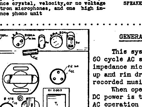silvertone 8916 ch  138 120 ampl  mixer sears  roebuck  u0026 co