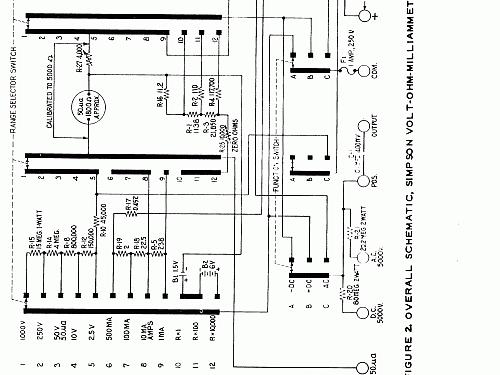 Volt-Ohm-Milliammeter 260 Series 3A Equipment Simpson Electr on simpson analog multimeter schematic, maytag performa schematic, simpson analog meter, kenmore electric dryer schematic, simpson meter schematics, current shunt schematic, simpson current shunt, digital multimeter schematic, simpson 5 series schematic, ohm meter schematic,