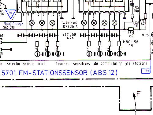 Tonnadel f/ür Plattenspieler Electronic Center 5001 von Telefunken