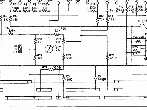analog multimeter yf 350 equipment yu fong electronics rh radiomuseum org sanwa analog multimeter circuit diagram Analog Voltmeter