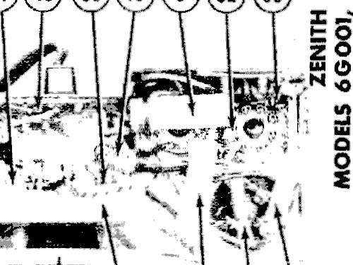 6g001yzx Universal 6g001yx Ch6c40 Radio Zenith Radio Corp