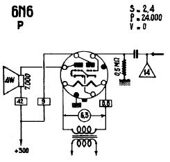 6N7 Triode Power Amplifier