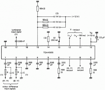 TDA4565 Colour transient improvement circuit