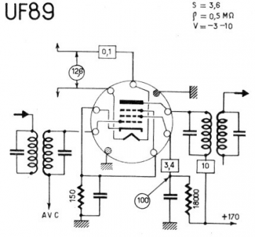 uf 89  tube uf89  r u00f6hre uf 89 id991  vacuum pentode