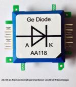 Die hier gezeigte Diode AA118 ist Teil meines Experimentiersets von Brick'R'knowledge.