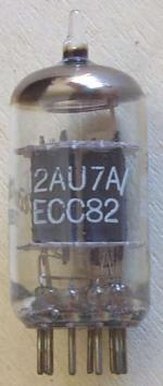 A 12AU7A / ECC82 manufactured by GE.
