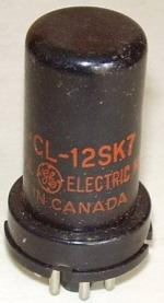 This 12SK7 with CL prefix was built by Canadian General Electric  Co. Ltd.