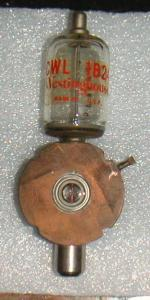 this is a radar tube with a radioactive gas that is used to block radar energy from entering the receiver wave guide.