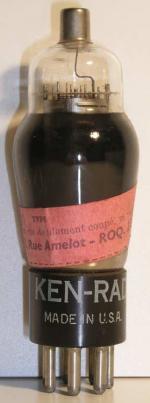 KEN-RAD  ancien culot Américain 7 pin   1 thick Poids : 40.4 grammes Hauteur : 11.5 cm (avec pin  thick) Diamètre : 3.8 cm