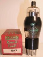 HALTRON   culot ancien Américain 7 pin   1 thick Poids : 35 grammes Hauteur : 11.2 cm (avec pin   thick) Diamètre : 3.8 cm
