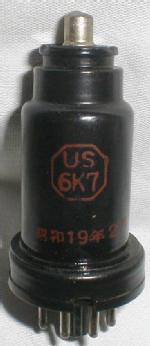 Japanese 6K7 made in 1944 by the Matsuda Company.