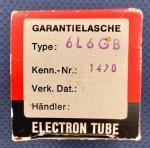 6L6GB Röhrenschachtel Teilansicht