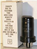 RCA  Octal  8 pin Poids : 31 grammes Hauteur : 6.5 cm Diamètre max : 3.3 cm