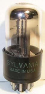 SYLVANIA  Octal  8 pin Poids : 27.4 grammes Hauteur : 7.2 cm Diamètre : 3.2 cm