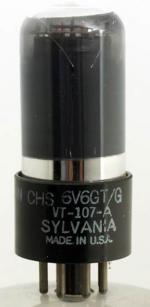 6V6GT/G Sylvania octal 7 pin
