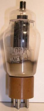 MAZDA  807 / 4Y25 culot ancien Américain 5 pin   1 thick Poids : 64 grammes hauteur : 14.2 cm (avec pin   thick) Diamètre : 5.1 cm