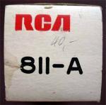 Der Verschlussdeckel der Originalverpackung der RCA 811-A
