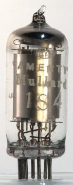 'AMERTY' Mullard 1S4, made in USA