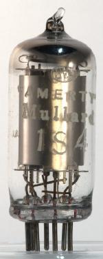 'AMERTY' Mullard 1S4, made in USA
